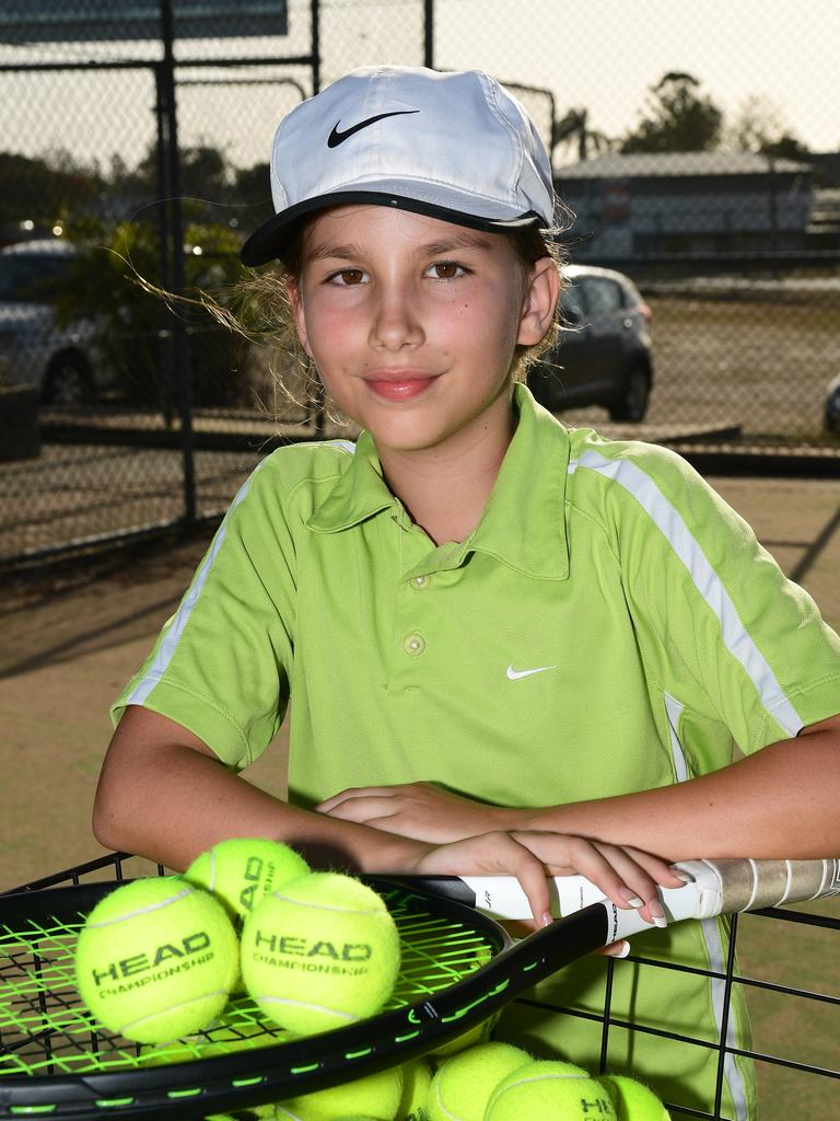 Young tennis achiever Lucy Geiszler.