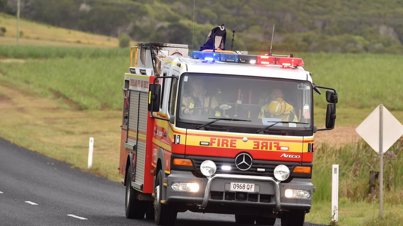 Four Queensland Fire and Emergency Services crews were called to a truck rollover on the New England Highway at 7.17 last night.