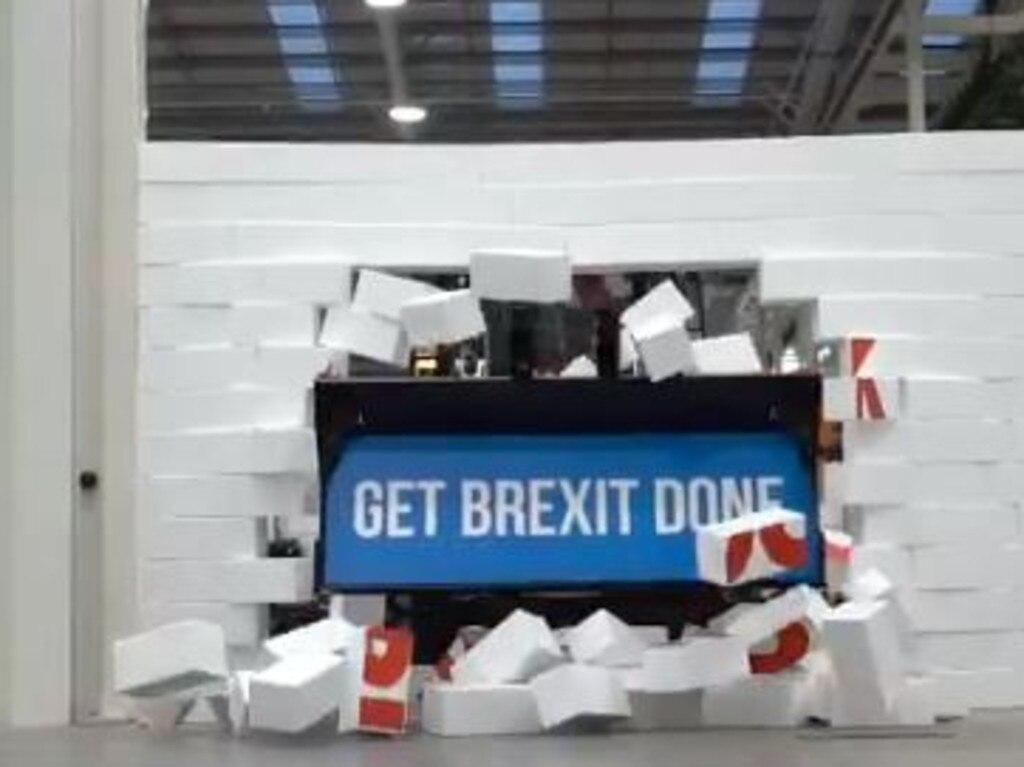 Boris Johnson has bulldozed through Brexit gridlock. Picture: Twitter