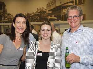 ( From left ) Kristy Hayes, Katrina Rojek and Tom