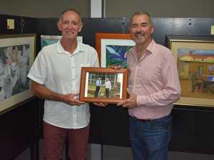 Richmond Valley mayor Robert Mustow with Chris