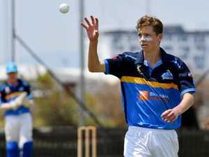 Under 16 Gold Coast bowler Aiden Bulkeley vs South