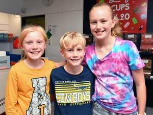 Addie McGuinness, 9, Leo McGuinness, 7, and Charlotte