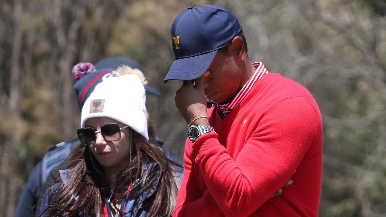 A frustrated US skipper Tiger Woods. Picture: Michael Klein