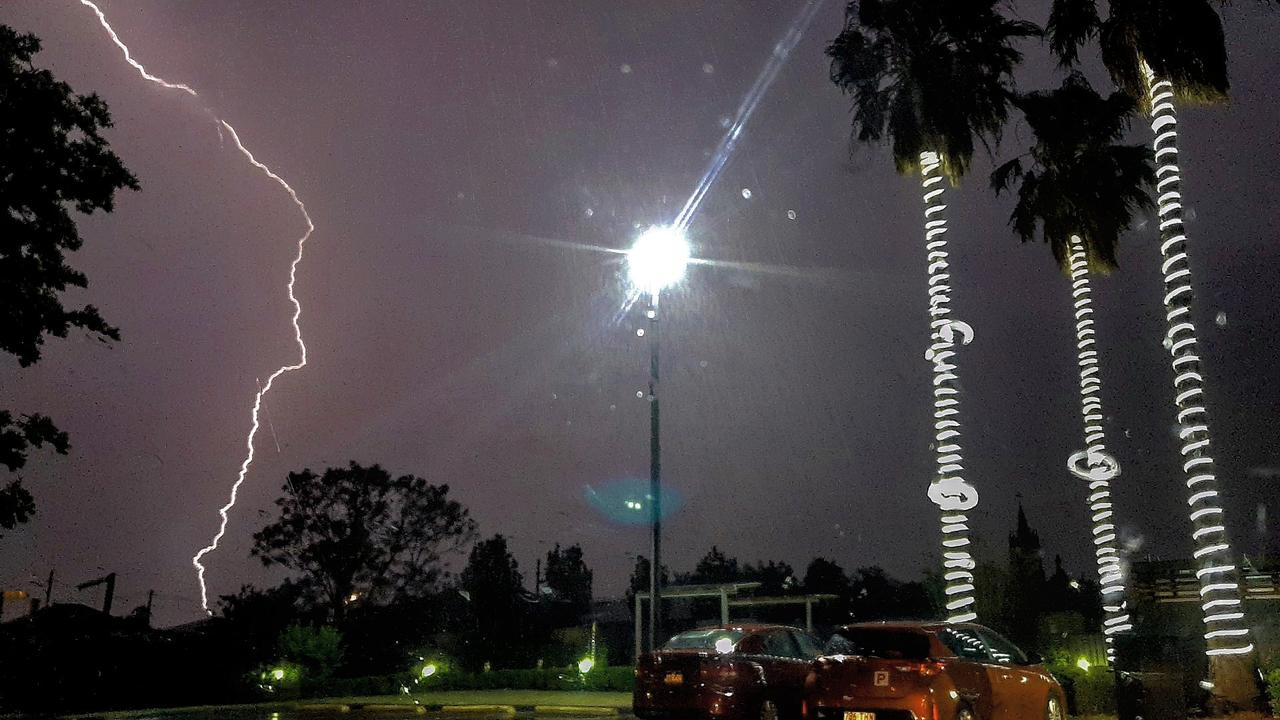 LIGHTNING STRIKES: More than a hundred strikes recorded on the Southern Downs.