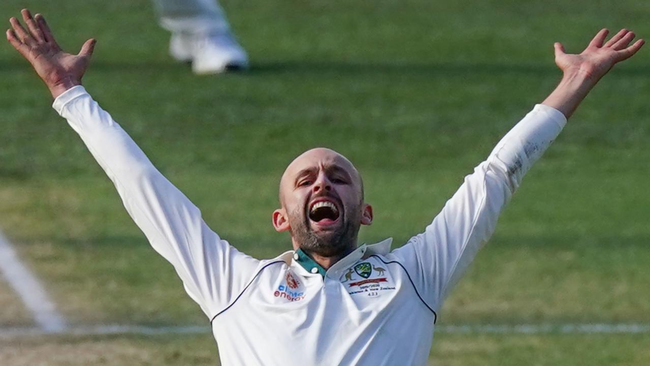 Nice Garry. Nathan Lyon spun his way to success. Picture: AAP