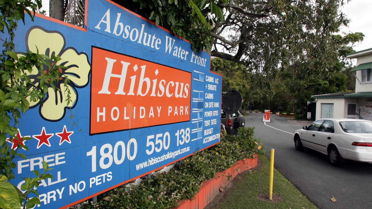 FLASHBACK: The entry to the old Hibiscus and Tripcony Caravan Park in Caloundra