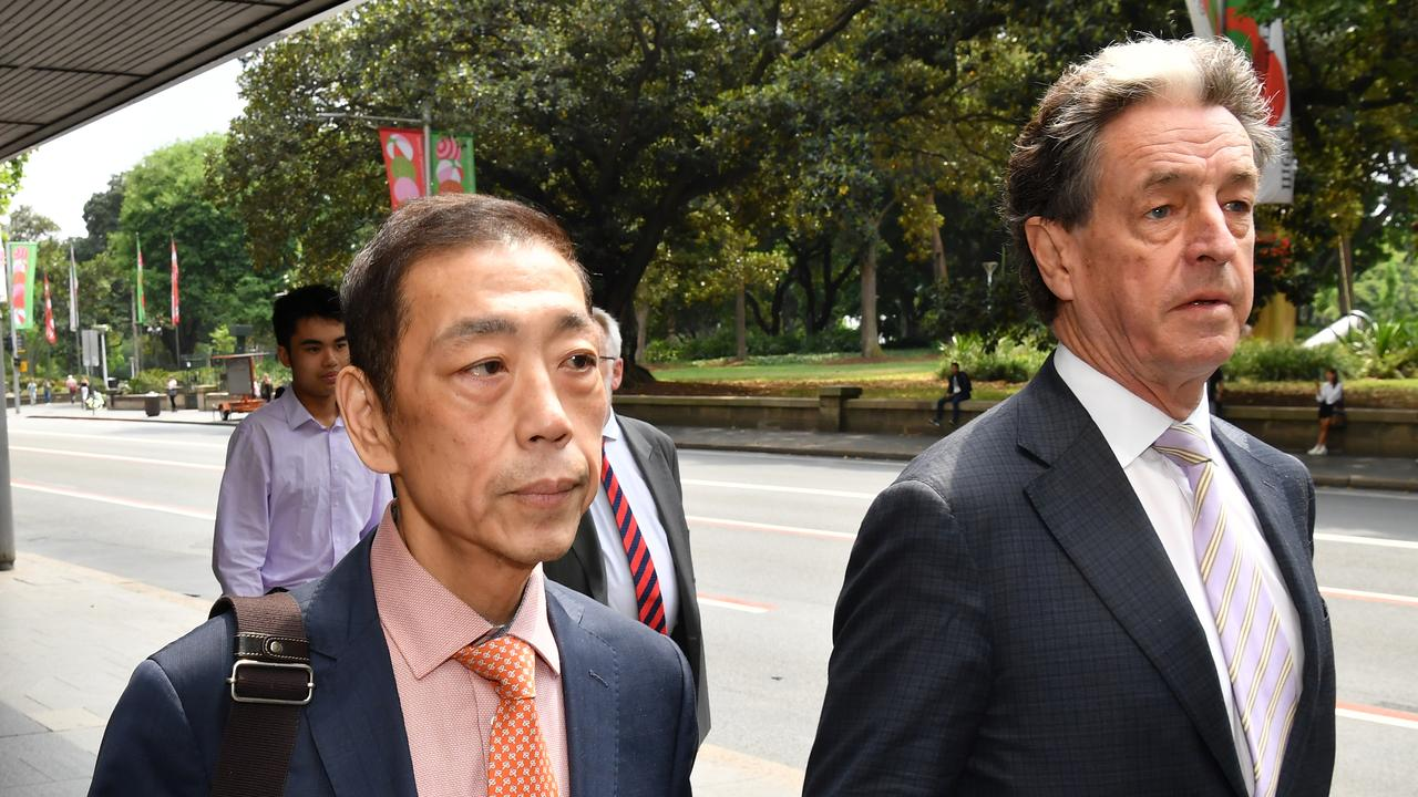 Ernest Wong (left) arrives to give evidence at the NSW Independent Commission Against Corruption (ICAC) public inquiry. Picture: AAP Image/Dean Lewins