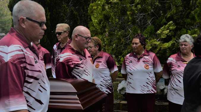 Final farewell: Guard of honour for Sarina man