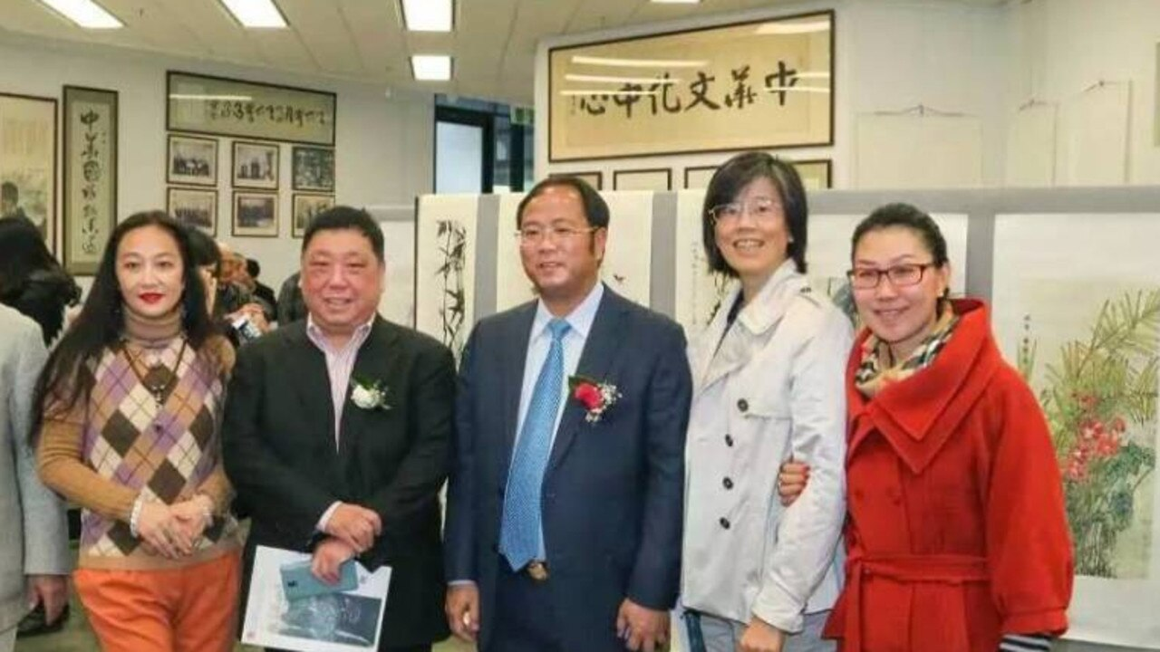 Ex MP Ernest Wong and Chinese billionaire Huang Xiangmo. Picture: Facebook