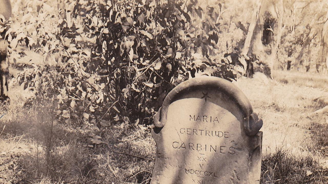 DEATH IN CHILDBIRTH: The lonely grave of Gertrude Carbines in the Bunya Mountains is a stark reminder of the fragility of life in the early days. Picture: Contributed