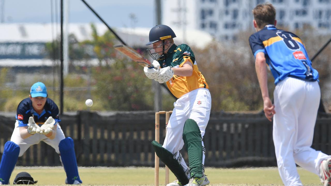 Under 16 South East Qld batter Fletcher Madden vs Gold Coast.