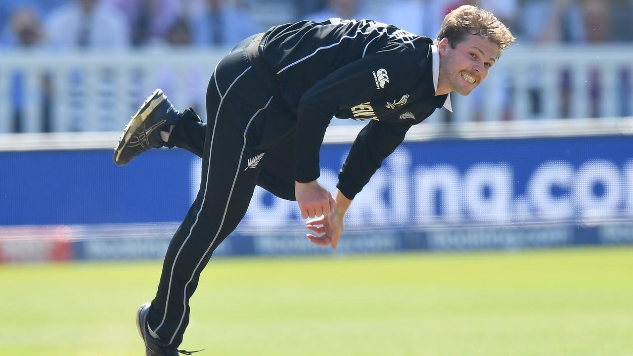 Lockie Ferguson bowling for New Zealand against Australia at the World Cup. Picture: Getty Images