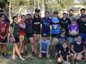 Global rugby star trains CH kids