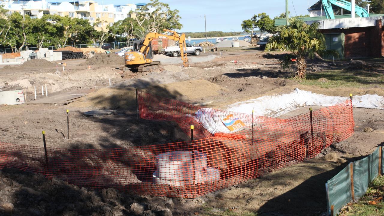 Tripcony caravan park in Caloundra undergoing redevelopment previously.