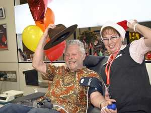 Toowoomba man proves you're never too old to give blood
