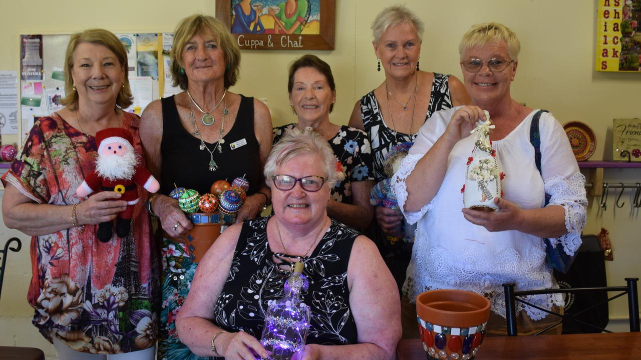 Sheilas' shack president Jan McAulay, vice-president Gina Rea, Helen Daly, Sandra Small, Jackie Lynch, Sara Angus with some of their craft ready for a Christmas stall.