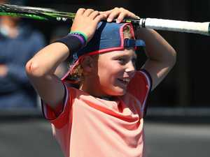 Lleyton Hewitt's son Cruz following in his dad's footsteps