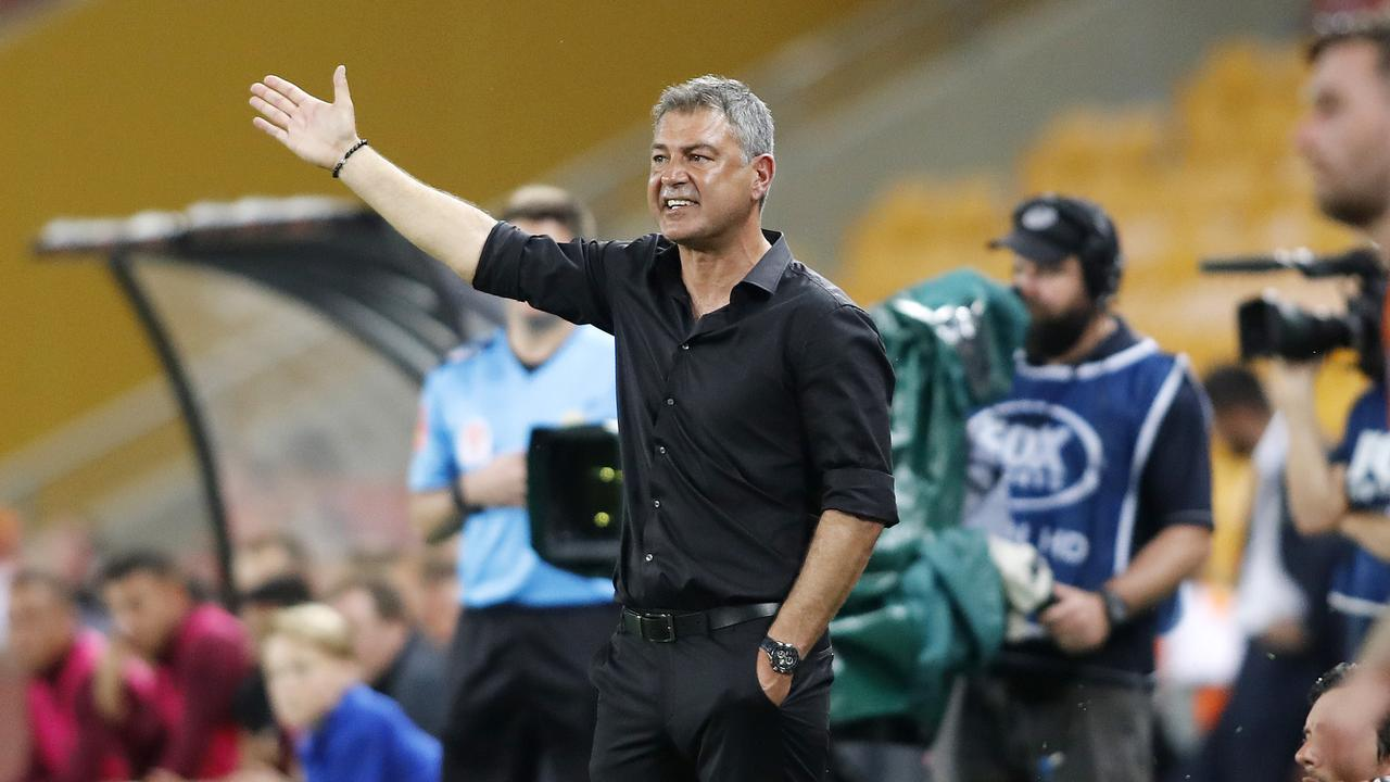 United coach Mark Rudan during Friday night's match. Picture: AAP
