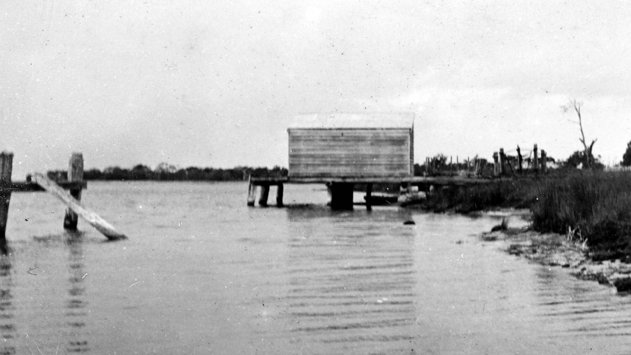 The old wharf of the south bank of the Maroochy River, Maroochydore, 1906. The wharf was located near William Pettigrew's sawmill, which he had begun building on the south bank of the Maroochy River in 1889. The mill began sawing timber in March 1891 and closed on July 16, 1898. It was bought by James Campbell & Son but was closed permanently by 1905. Picture: Contributed