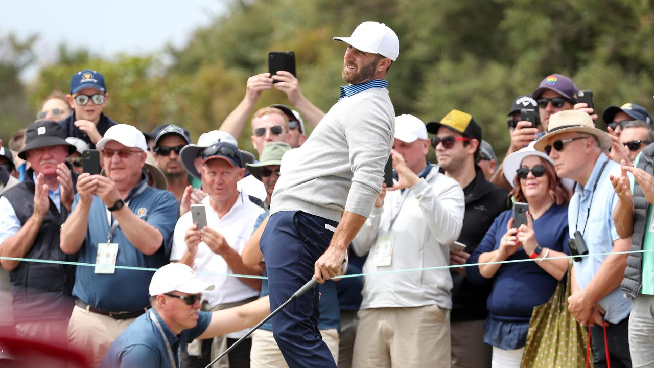 Dustin Johnson has struggled for team USA. Picture Michael Klein