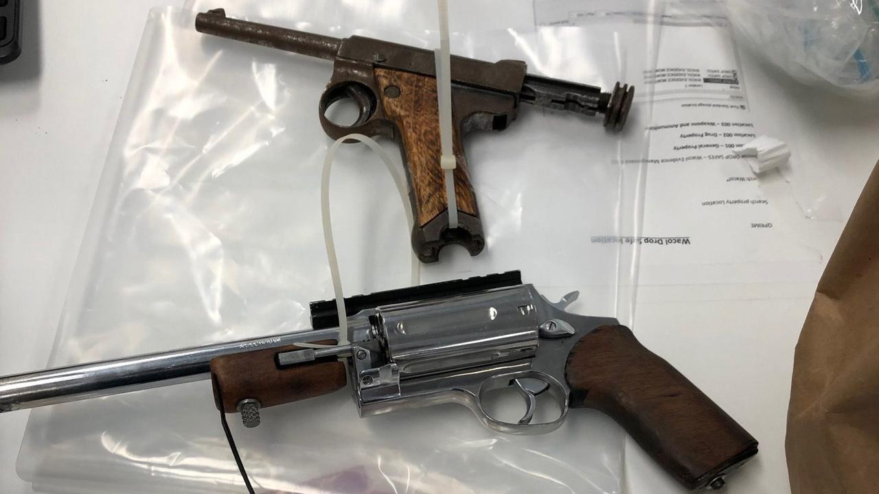 HIGH STAKES:Guns seized during Operation Romeo Minister.