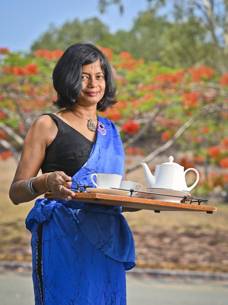 It's International Tea Day on December 15. Donna Perera will be dressing in traditional Ceylon garb and serving tea on the day. Picture: Cordell Richardson