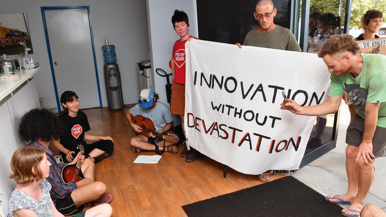 Stop Adani protesters at Siemens Mackay office last week.