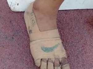 Young girl's makeshift Nikes go viral