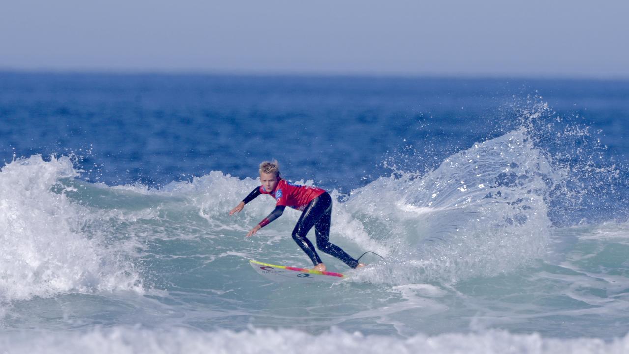 Coolum surfer Ashton Pignat at the Australian Junior Surfing Titles