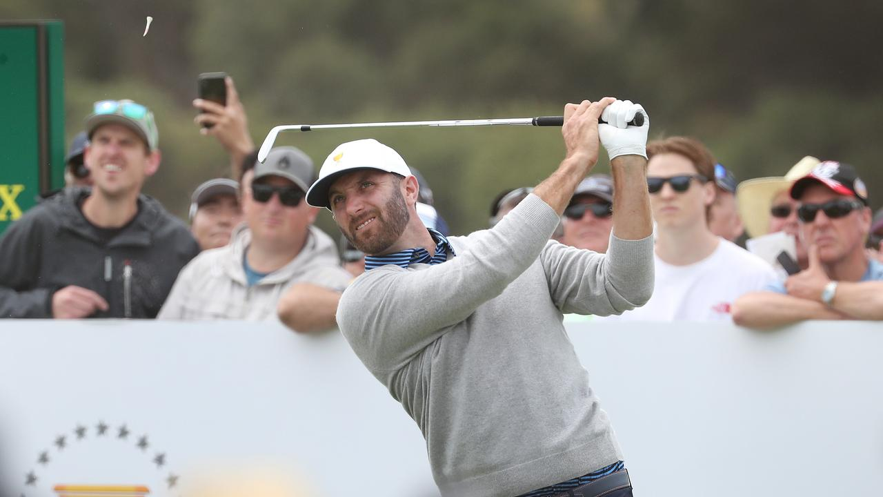 Dustin Johnson is hindering Tiger Woods' team. Picture: Michael Klein