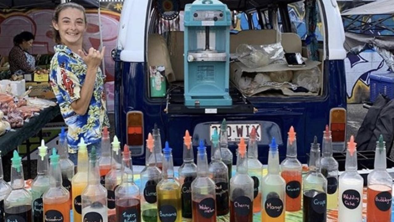 Tallula Southon and her vibrant Shaka Shack business. Picture: Contributed