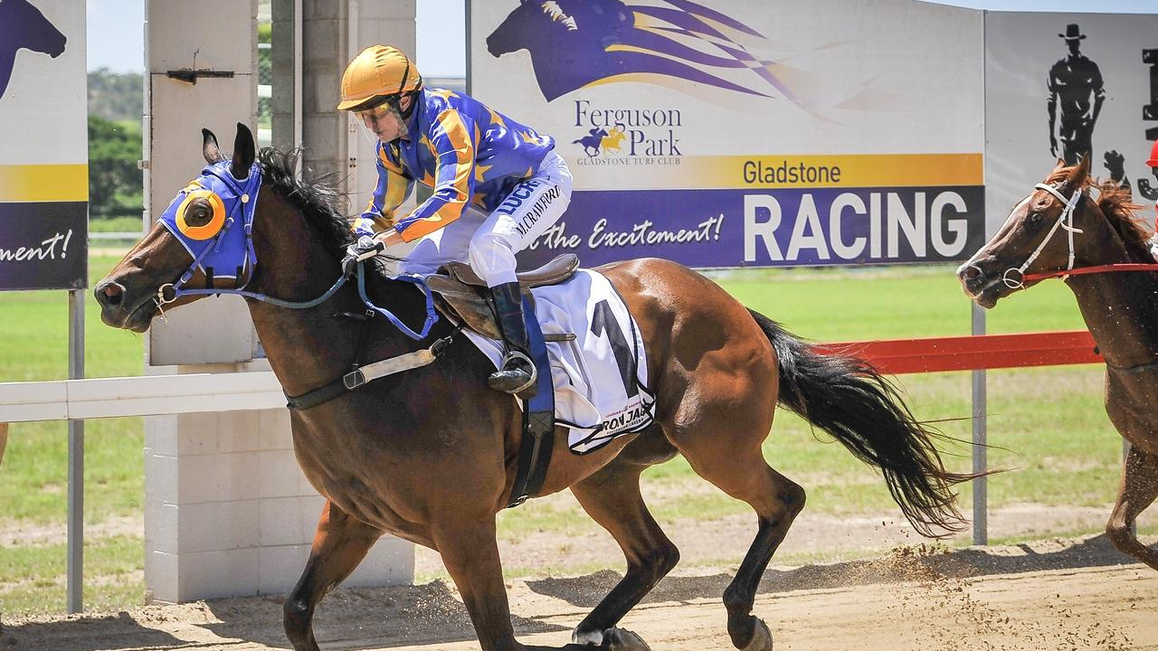 Lee Kiernan trained horse New Kintaro, came first in the opening race of Gladstone's December Race Day mid-year