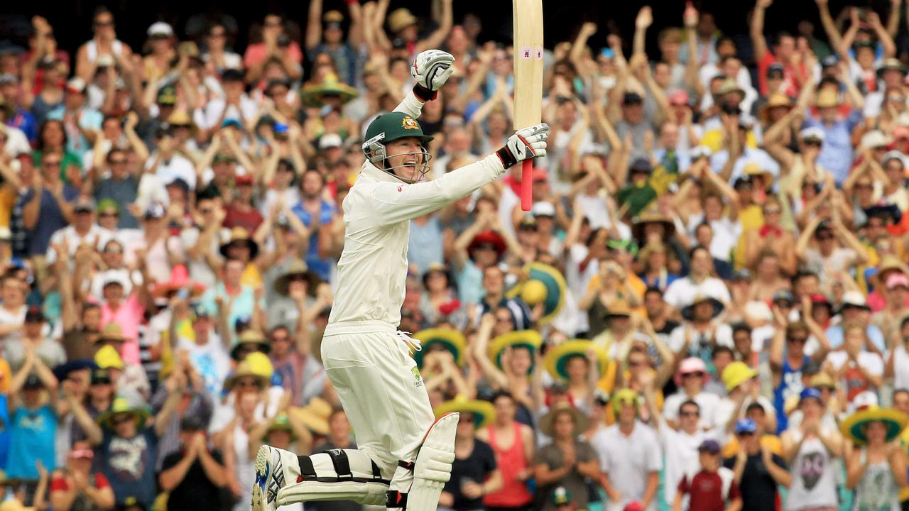 Michael Clarke rescued the Aussies with a triple century against India at the SCG.