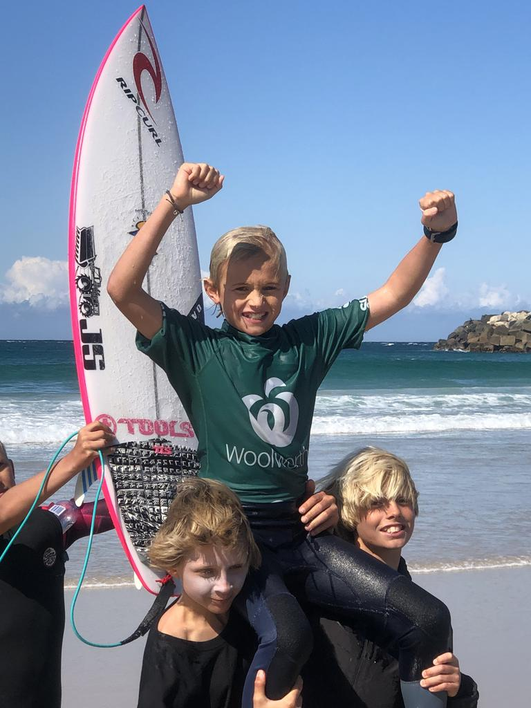 Ripcurl team member Mitch Person, 11, from Noosa.