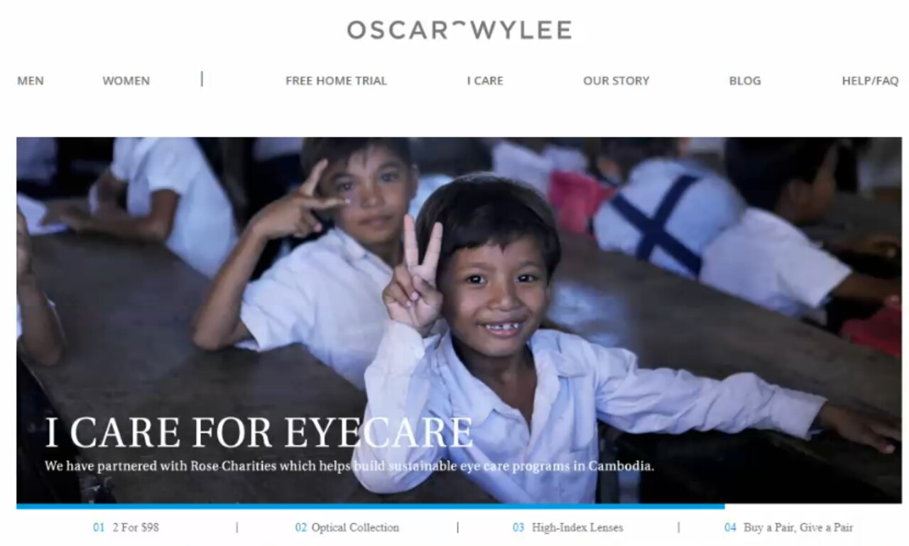 One of many adverts that appeared on the Oscar Wylee site.