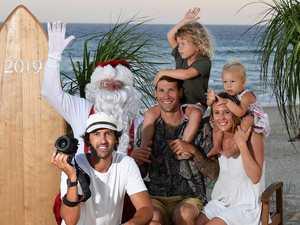 Santa's at the beach for Christmas photos