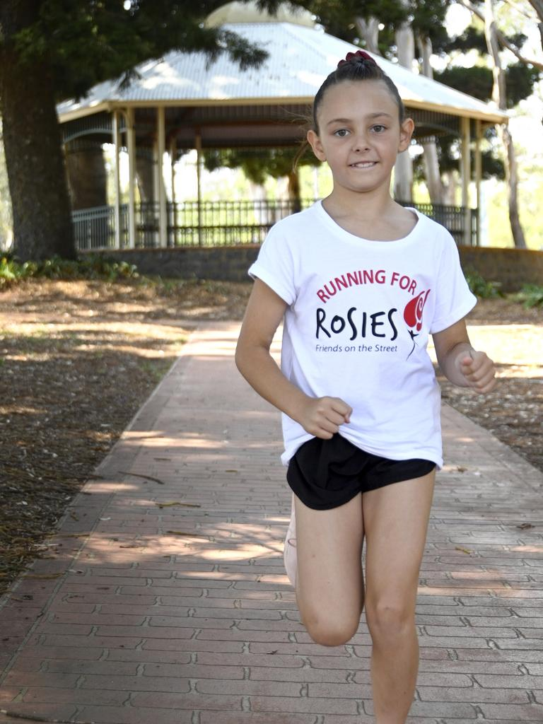 Nine year old Jorja Duggan is raising money for the homeless by running 25km before January 1. Picture: Bev Lacey