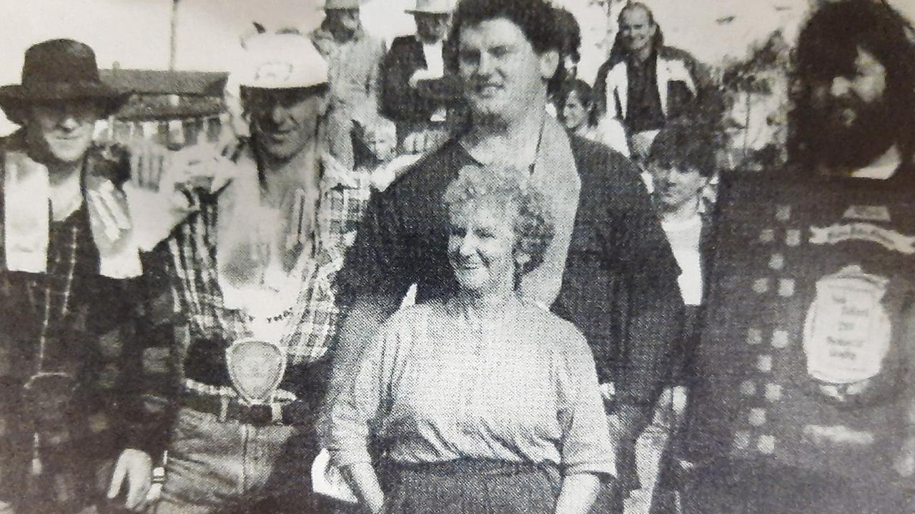 Evelyn Gane at the goanna pulling
