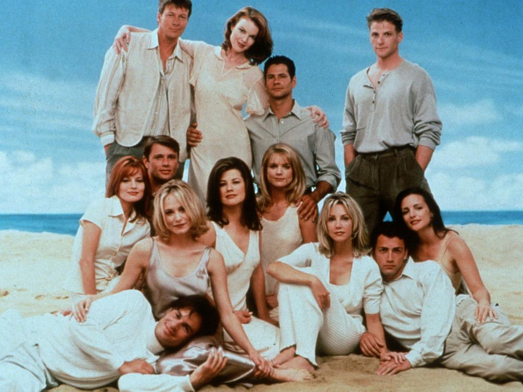 The cast of Melrose Place in 1996. Picture: Supplied