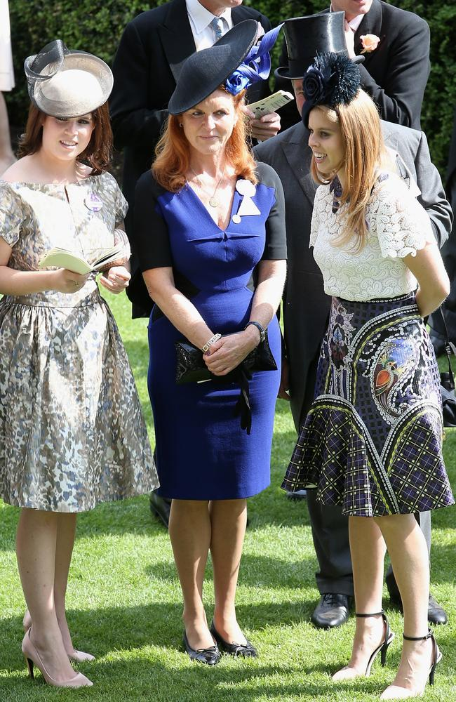 Sarah Ferguson spoke about the difficulties of raising her daughters in the public eye. Picture: Getty Images