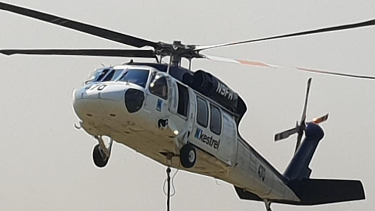 Waterbombing helicopter. FILE PHOTO