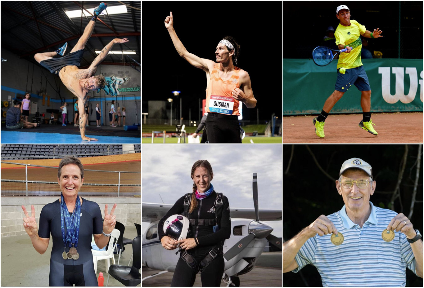 BEST OF THE BEST: (Clockwise from top left) Lars Kristensen, Jordan Gusman, Damian Phillips, Kerry Westwood, Jessica Johnston and Greg Sutherland have all made our athletes of the year.