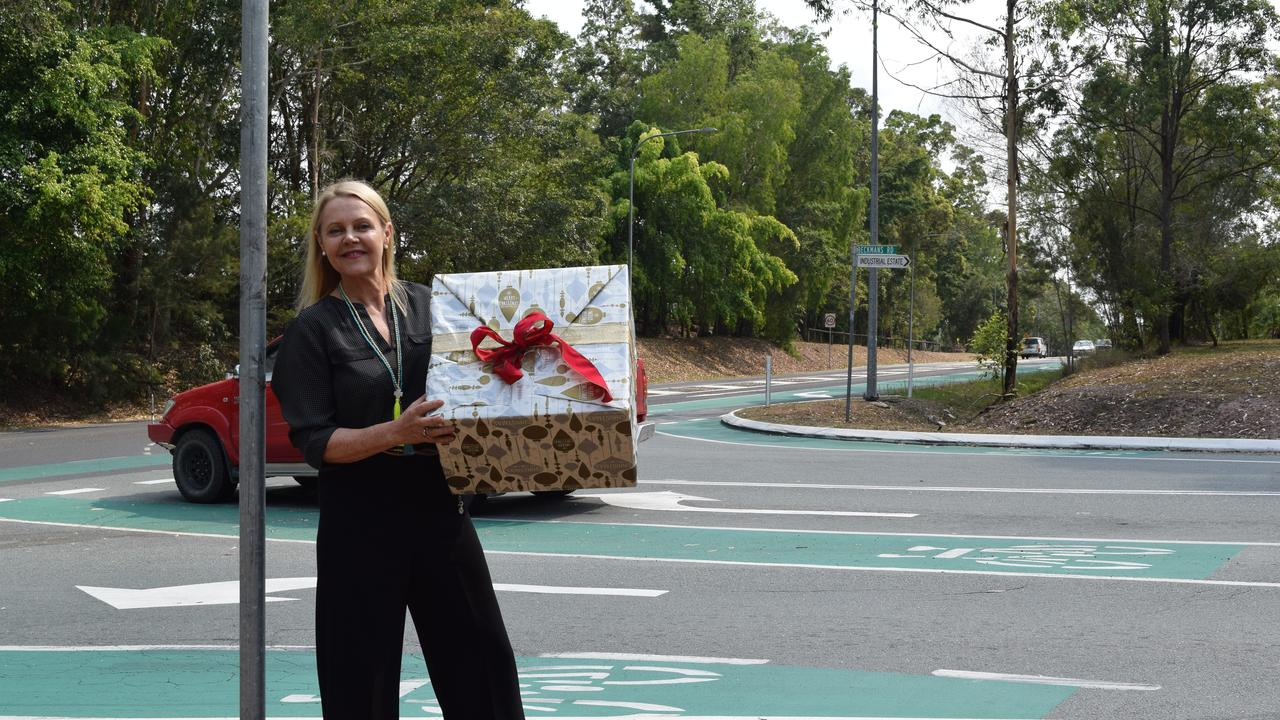 MERRY TIMES: Christmas has come early for Sandy Bolton MP, with funding for Beckmans Rd.