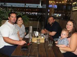 Dining: Mitchell Courtney, (left) Susan Courtney, Kym