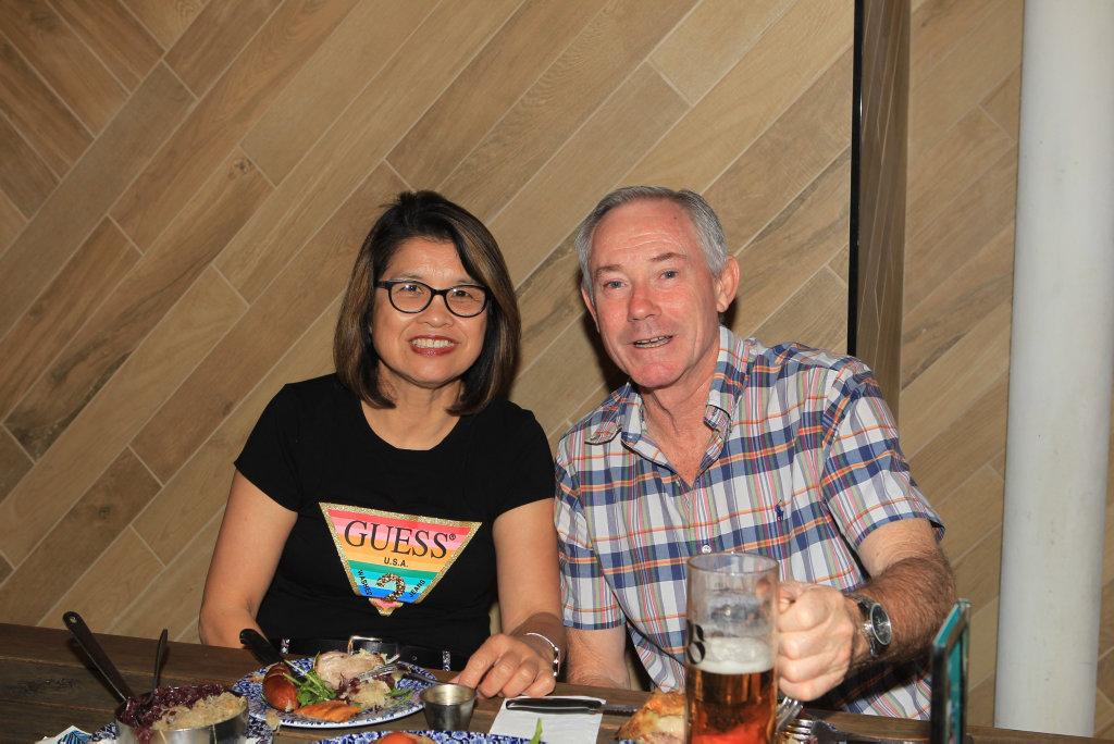 Image for sale: Dining: Glenda Harrison and Kevin Miller at The Bavarian