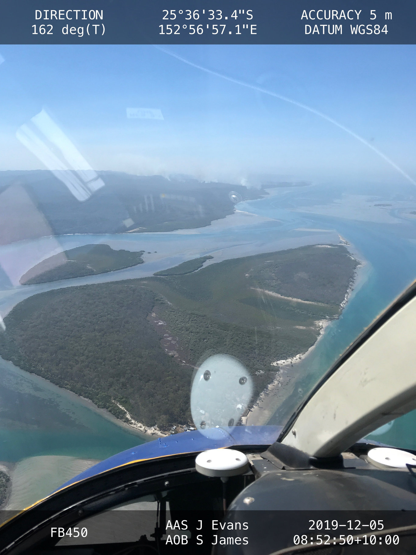 Aerial photos of the bush fire on Fraser Island taken by Queensland Fire and Emergency Services before December 12.