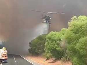 Heroic chopper crews aid 'horrific' Perth fires