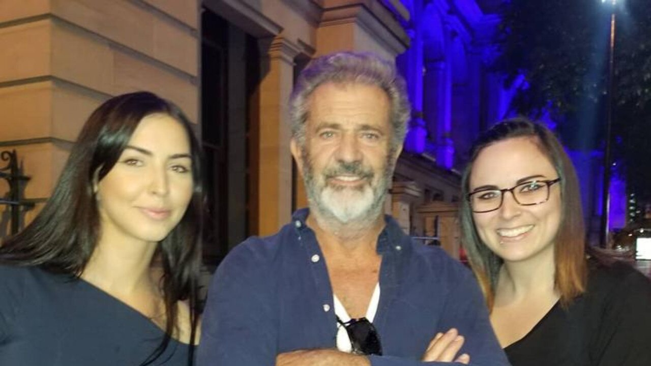 Mel Gibson recently dropped in for a visit to Brisbane City. Picture: Instagram / @chelsbeaulieu