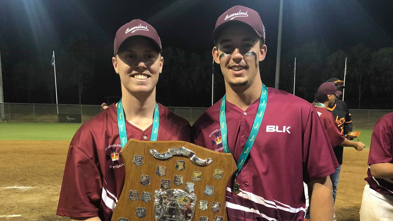 Dan Ludkin and Josh Ferguson's QLD team won the U18 National Softball Championships in Blacktown, NSW